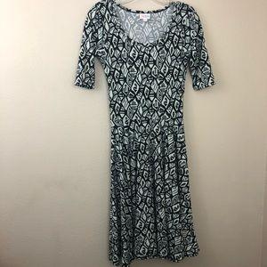 LuLaRoe Nicole Dress Geometric Print